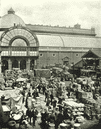 LONDON. Covent Garden Market- A Morning scene in the Market 1896 old print